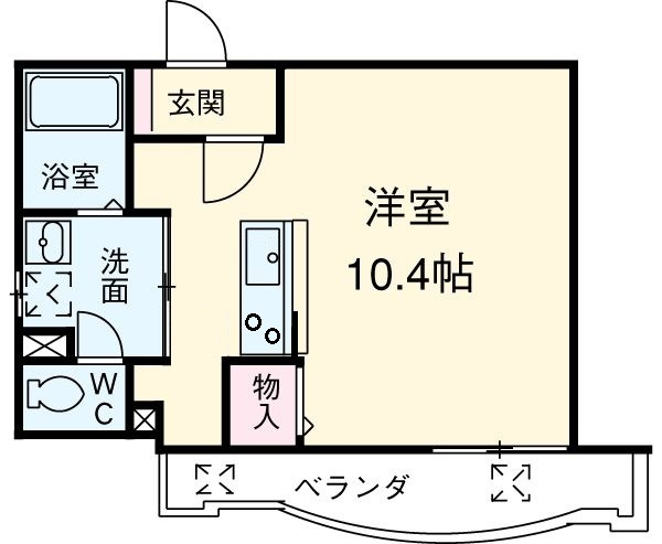 アップル第7マンション 608号室の間取り