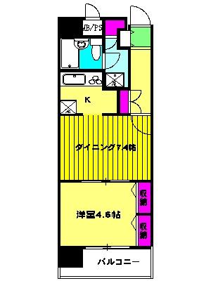 ライオンズマンション川崎第14 406号室の間取り