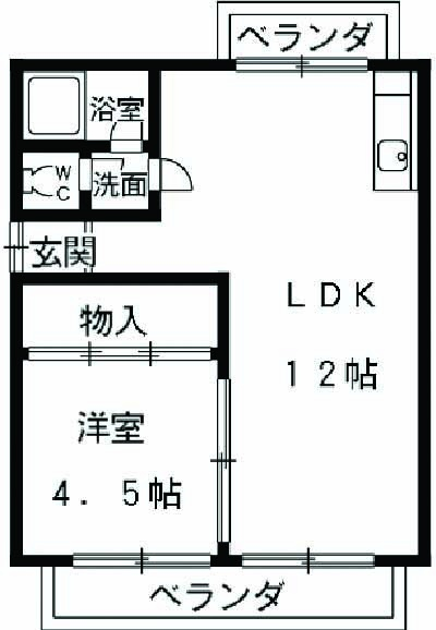 第2松田ビル 502号室の間取り