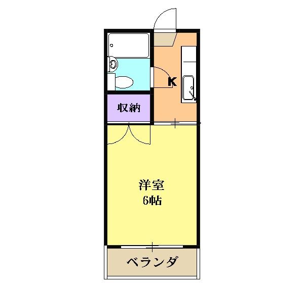 ハイツ堀田 503号室の間取り