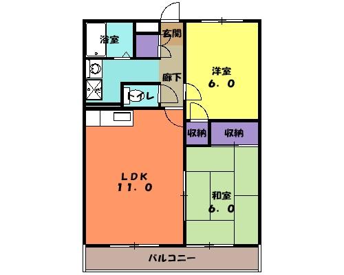 コアロードⅠ 102号室の間取り