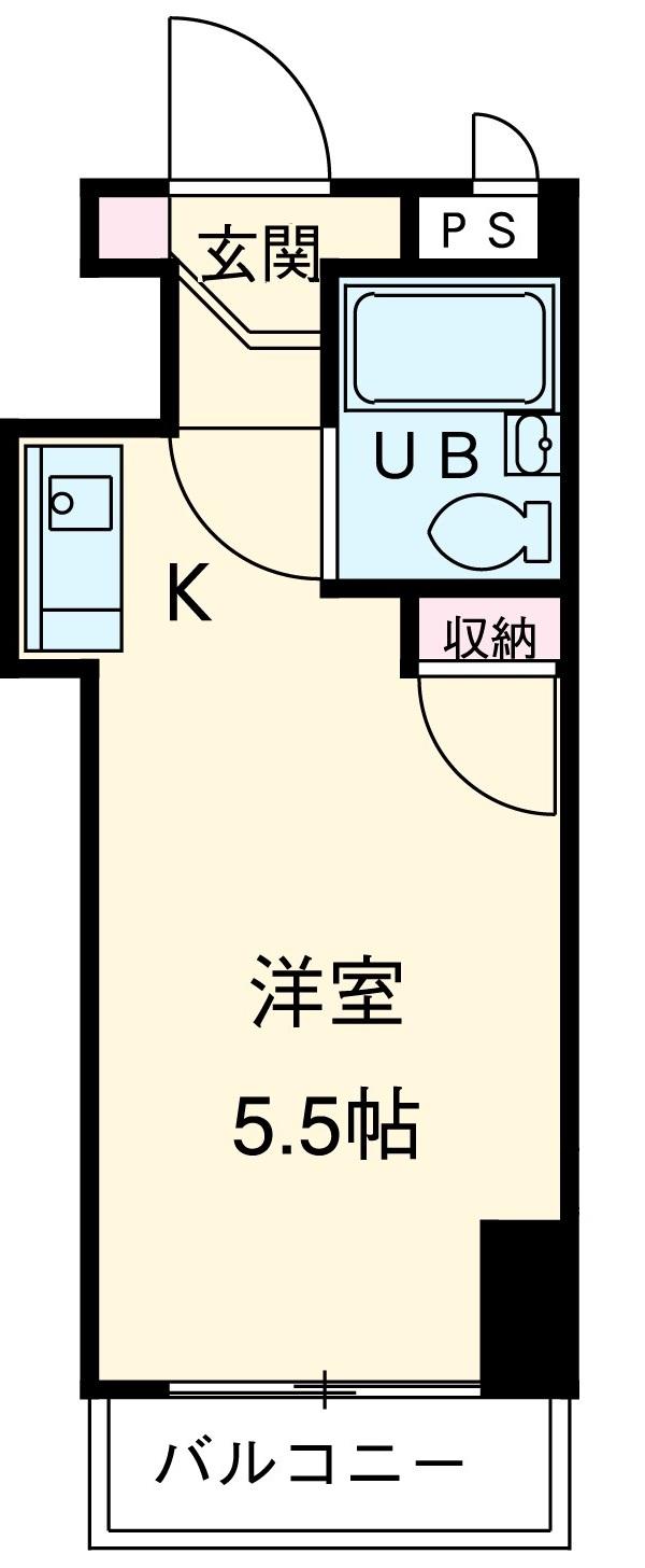 TOP横浜吉野町 407号室の間取り
