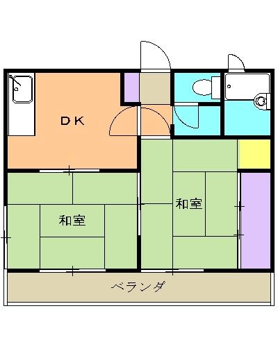 ボナール清瀬 00103号室の間取り