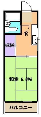 メゾンド沢田や 201号室間取り図