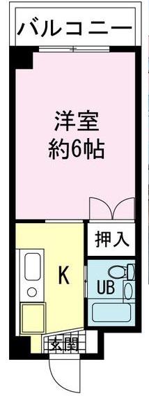 ヤマユ森マンション 202号室の間取り