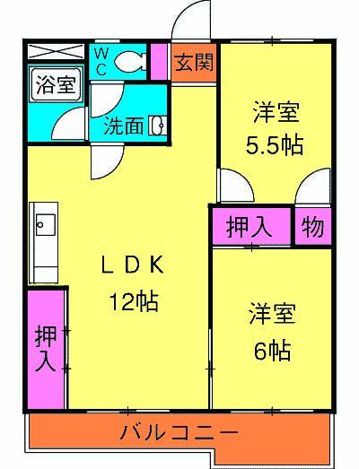 渋谷コート2号館 402号室の間取り