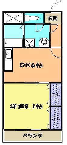 T,s Marcher 2-B号室の間取り