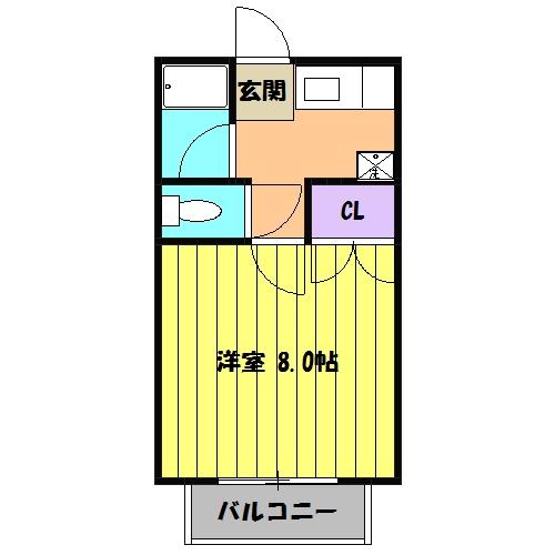 青木ヒルズα-3 203号室の間取り