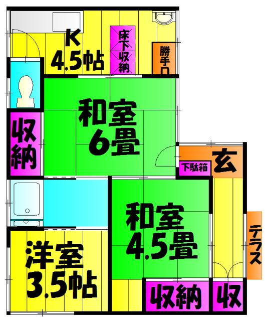 松本荘 102号室の間取り