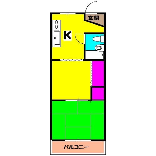 マニヤ・パーク・ハイツ 302号室の間取り