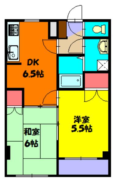 KINO HOUSE 203号室の間取り