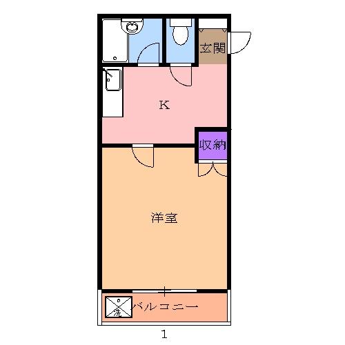 レジデンス山崎Ⅱ 201号室の間取り
