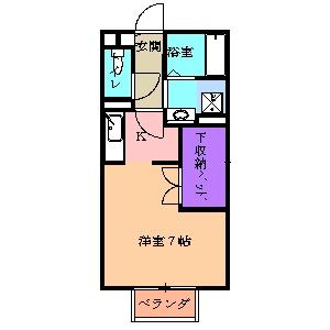 東栄ハイツB 105号室の間取り