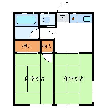 守屋アパート 207号室の間取り