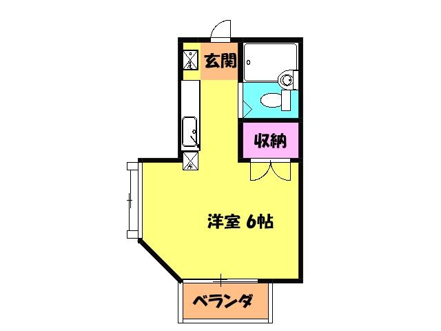 エステートピア清門 201号室の間取り