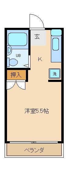 オネスティ津田沼壱番館 108号室の間取り