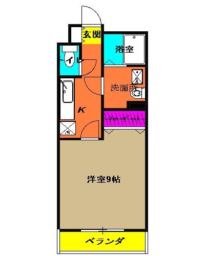 アムール MIYAMA 104号室の間取り