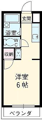 第3フラッツ横浜 201号室の間取り
