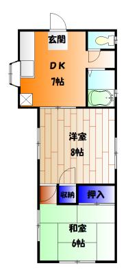 コスモAoi NO.1 101号室の間取り