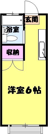 エステートピア岩崎台 207号室の間取り