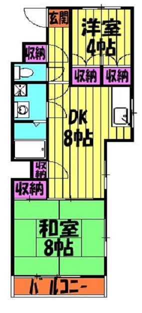 マンション太田窪 206号室の間取り