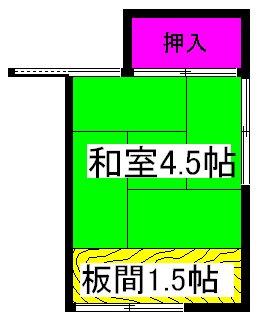 第一柴田荘 2号室の間取り