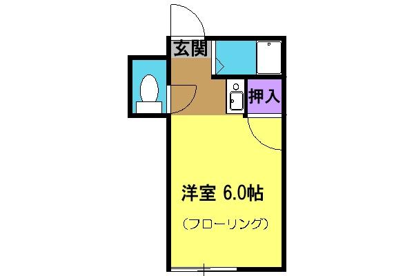 石山荘 N号室の間取り