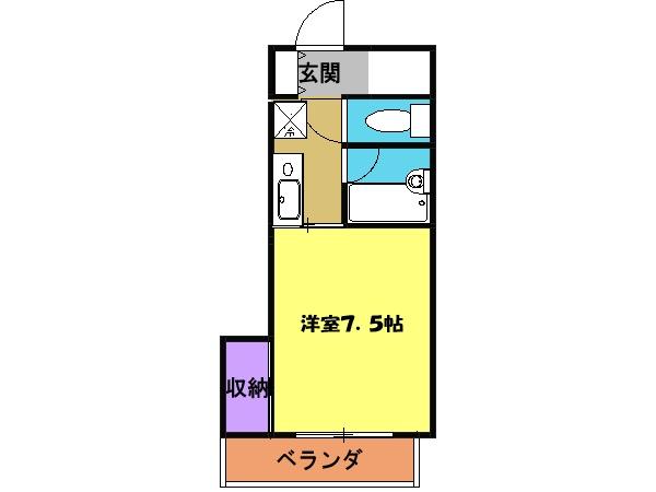 メゾン柳澤 205号室の間取り