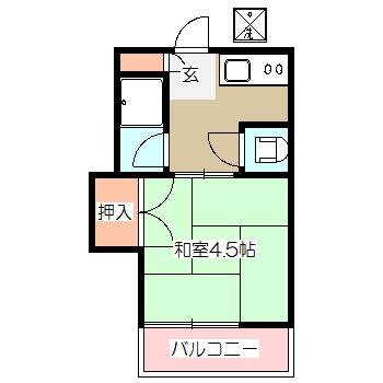 かりん荘 205号室の間取り