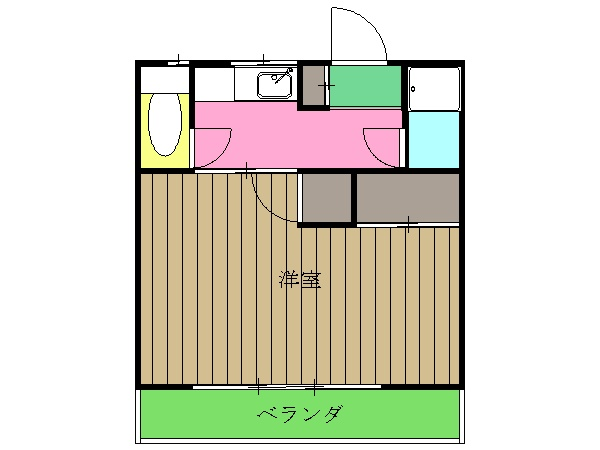 メゾン新川口東棟 201号室の間取り