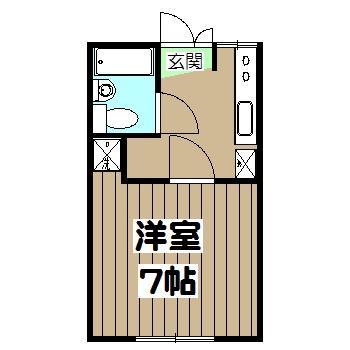 谷口ビル 22号室の間取り