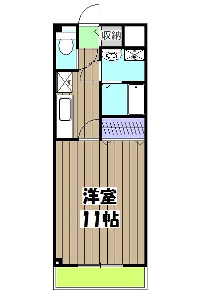 第6田原ハイム 405号室の間取り