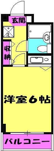 ソシアーレミラン武蔵浦和Ⅱ 311号室の間取り