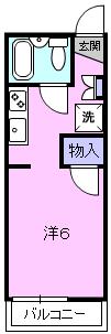 リバティ小松 103号室の間取り