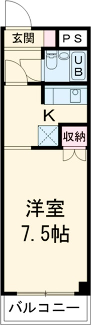 is高師 211号室の間取り