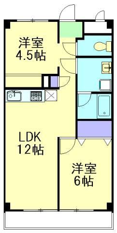 ハピネス飯田5号館 202号室の間取り