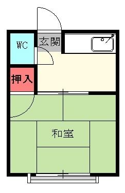本山アパート 202号室の間取り