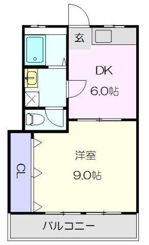 新開地ビル 301号室の間取り