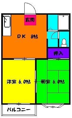アビタシオンMIWA 101号室の間取り