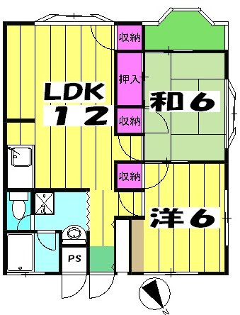 第二メゾン嶋田 205号室の間取り