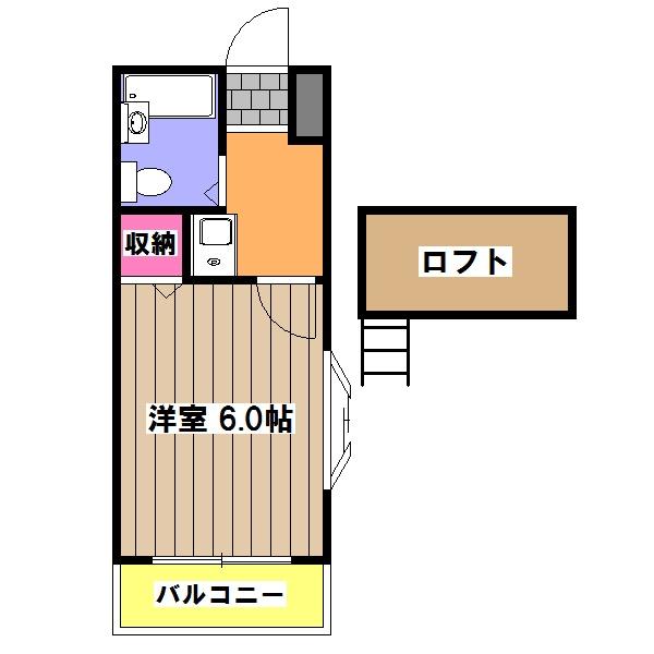 メゾントヤマ 202号室の間取り