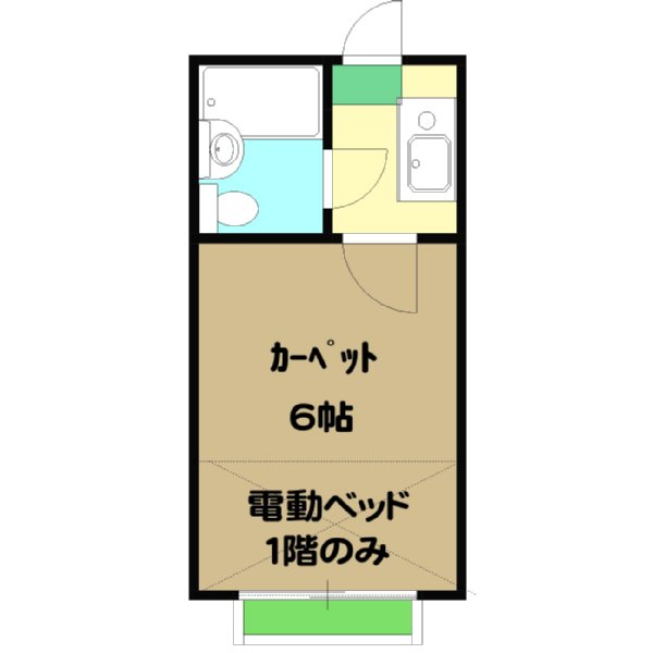 サンライズ桜ヶ丘 102号室の間取り