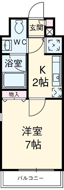 プロシード新栄 1107号室の間取り