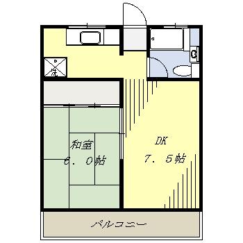 メゾン・ド・ワタナベ 202号室の間取り