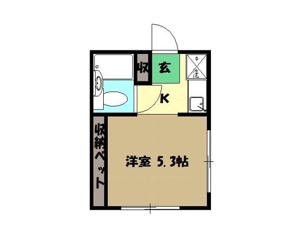 松本ハイム 301号室の間取り