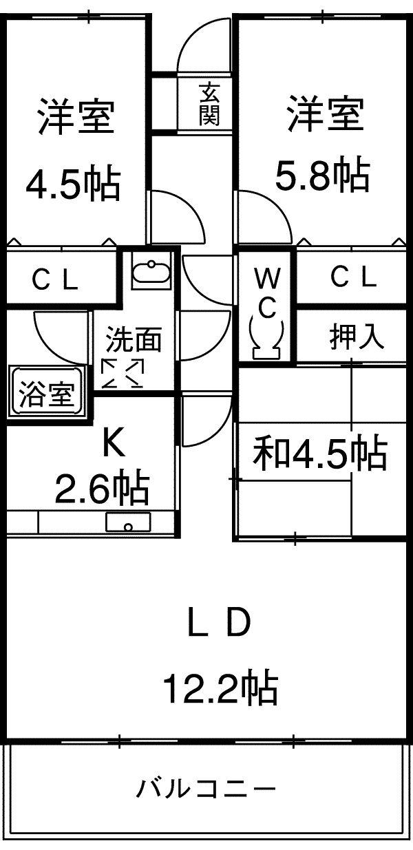 シャトレM 305号室の間取り