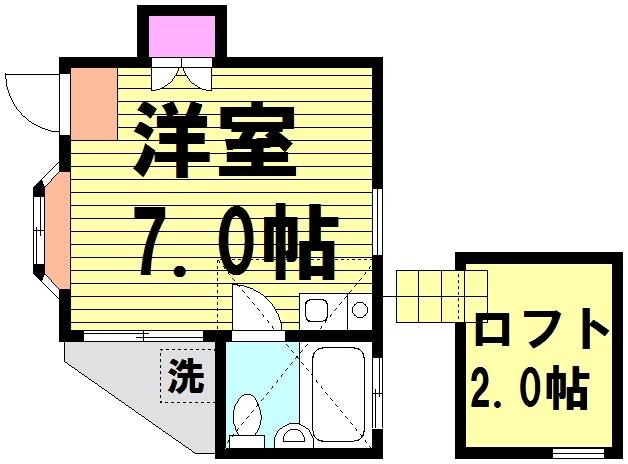 第3栄屋コーポ 201号室の間取り