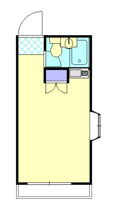 第1桜コーポ 102号室の間取り