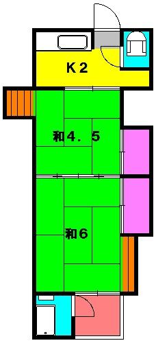第一小川荘 10号室の間取り