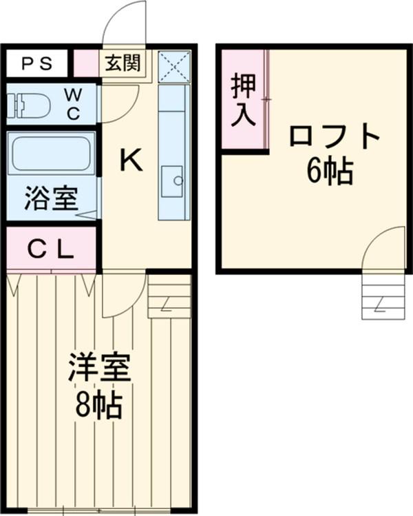 コ・クーン2宮子 106号室の間取り